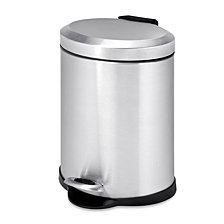 Honey Can Do 5L Oval Stainless Steel Step Can