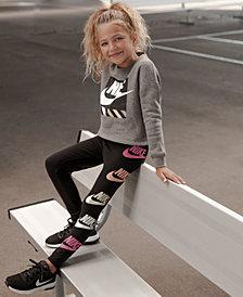 Nike Toddler Girls Futura-Print Shine Leggings