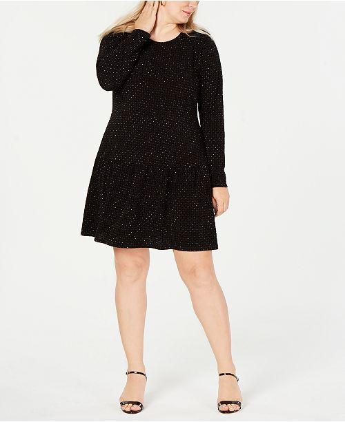 Michael Kors Plus Size Studded Dress & Reviews - Dresses - Plus ...