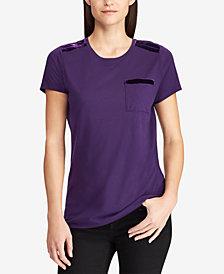 Lauren Ralph Lauren Petite Pocket T-Shirt