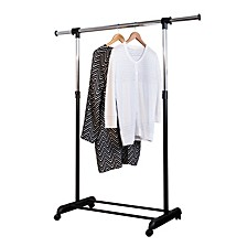 Adjustable Garment Rack with Extendable Bar