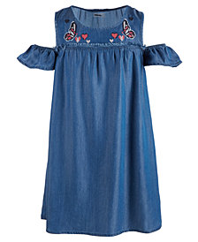 Epic Threads Big Girls Embroidered Cold Shoulder Dress, Created for Macy's
