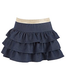 Epic Threads Little Girls Tiered Denim Skirt, Created for Macy's
