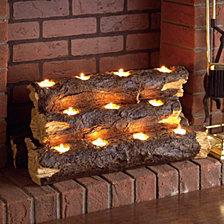 Resin Fireplace Log, Quick Ship