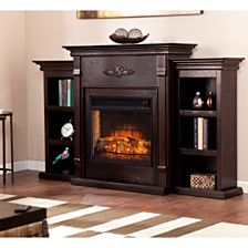 Whitehall Fireplace with Bookcase, Quick Ship