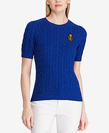 Lauren Ralph Lauren Crest Cotton Sweater