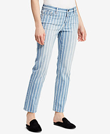 Lauren Ralph Lauren Striped Estate Jeans