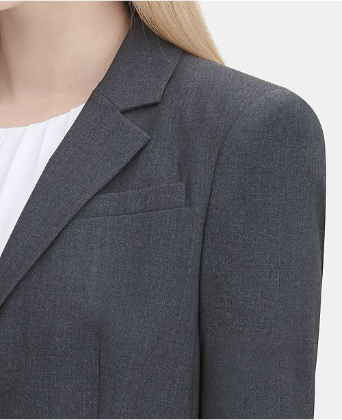 4a71ace4f61 Calvin Klein Two-Button Blazer   Reviews - Wear to Work - Women - Macy s
