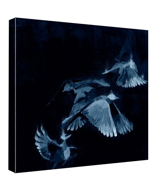 PTM Images Study 1 - Blue Decorative Canvas Wall Art