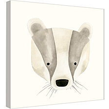 Ptm Images,Badger Watercolor Face Decorative Canvas Wall Art