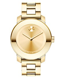 Women's Swiss Bold Gold-Tone Stainless Steel Bracelet Watch 38mm 3600085