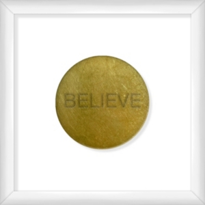 Living 31 Believe Gold Decorartive Wall Art