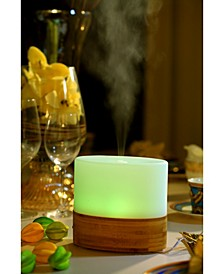 SPT Ultrasonic Aroma Diffuser Humidifier with Bamboo Base Oval