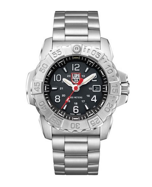 Luminox Men's 3252 Navy Seal Stainless Black Dial Bracelet Watch