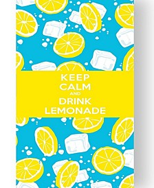 Premium High Performance Beach Towel - keep calm Let's Drink Yellow By MinxNY