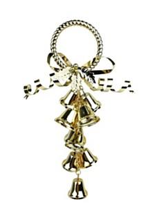 """10.5"""" Bells Door Hanger - Silver"""