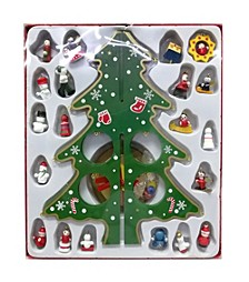 Christmas Tree Table Stand Decor With Ornament