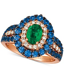 Multi-Gemstone (2 ct. t.w.) & Diamond (1/4 ct. t.w.) in 14k Rose Gold