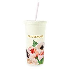Kate Spade New York Tumbler With Straw, Blushing Floral