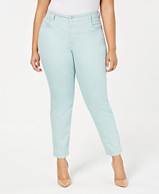 Style & Co Plus Size Color Wash Skinny Jeans, Created for Macy's