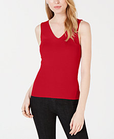 Maison Jules Sleeveless V-Neck Sweater, Created for Macy's