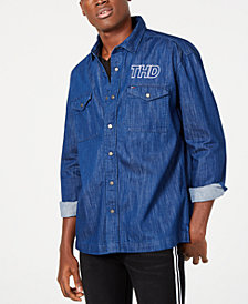 Tommy Hilfiger Denim Men's Nate Regular-Fit Logo Shirt Jacket, Created for Macy's