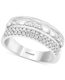 EFFY® Diamond Multi-Row Band (3/4 ct. t.w.) in 14k White Gold
