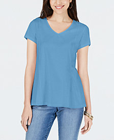 Style & Co Petite V-Neck Top, Created for Macy's
