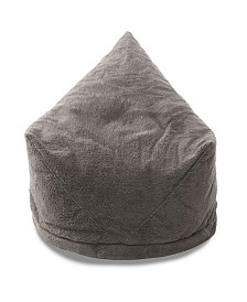 Mimish Cozy Sherpa Beanbag Lounger Chair with Storage