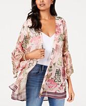 94b5cf27cb4a6 Style   Co Printed Flutter-Sleeve Kimono