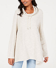 Style & Co Relaxed Funnel-Neck Top, Created for Macy's