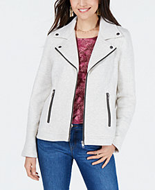 Style & Co French Terry Moto Jacket