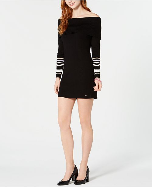 Tommy Hilfiger Off The Shoulder Mini Sweater Dress Created For