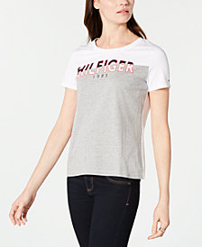 Tommy Hilfiger Logo Cotton T-Shirt, Created for Macy's