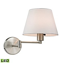 Avenal Collection 1 light swingarm in Brushed Nickel - LED Offering Up To 800 Lumens (60 Watt Equivalent)