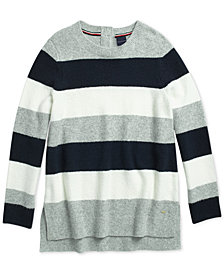 Tommy Hilfiger Women's  Compact Cozy Rugby Sweater From The Adaptive Collection