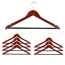 Honey Can Do 8-Pc. Basic Cherry Wood Suit Hangers
