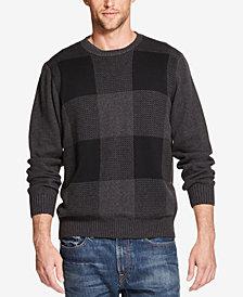 Weatherproof Vintage Men's Buffalo-Plaid Crew-Neck Sweater