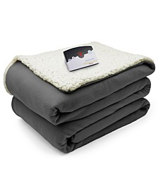 Heated Comfort Knit Fleece/Sherpa Blankets