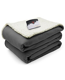 Biddeford Heated Comfort Knit Fleece/Sherpa Blankets