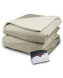 Biddeford Heated Micro Mink/Sherpa Blankets
