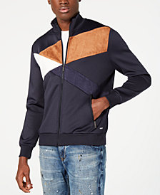 Sean John Men's Fractured Colorblocked Track Jacket
