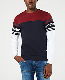G-Star RAW Mens Colorblocked Logo Sweatshirt, Created for Macy's
