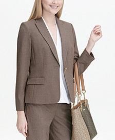 Calvin Klein Mélange Peak-Collar Blazer