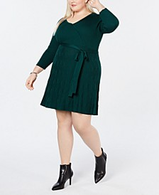 Plus Size Fit & Flare Sweater Dress