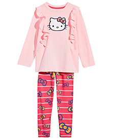 Hello Kitty Little Girls Ruffle Tunic & Leggings Set