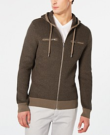 INC Men's Textured Zip-Front Hoodie, Created for Macy's
