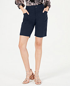I.N.C. Curvy Washed Bengaline Shorts, Created for Macy's