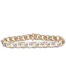Men's Diamond Link Bracelet (1 ct. t.w.) in 10k Gold