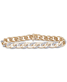 Men's Diamond Link Bracelet (1 ct. t.w.) in 10k Gold